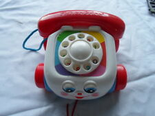 Vintage Fisher Price Phone Telephone 1993 Pull Along Toy Chatter Moving Eye 2251