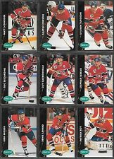 1991-92   PARKHURST HOCKEY , 9 CARD LOT , MONTREAL CANADIENS