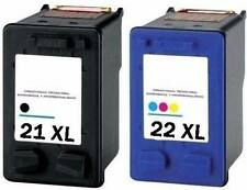 21 + 22 High Capacity Black & Colour Ink Cartridges for HP Deskjet F2280 Non OEM