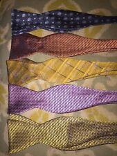 Lot Of 5 Bruno Piattelli Bow ties Bowties Silk