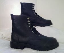 ASOS Black Lace Up Military Style BOOTS Size 6 womens