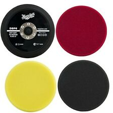 "Meguiar's 6"" DA Polisher Kit: Foam Pads & Backing Plate DBP6, DFC6, DFP6, DFF6"