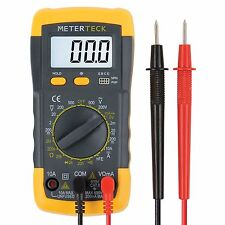 Multimeter Digital Meter Amp Ohm Voltmeter Tester Fluke Battery Extra Cable Ac