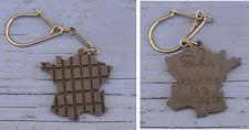 Porte-clé des années 1960-70, tablette de chocolat Poulain, France - hexagone