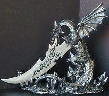 DRAGON LANCE   Dragon Knife    Figure Statue H10''  x L11.25''