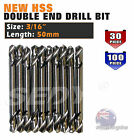 "10PC 30PC 100PC 3/16"" 4.8mm HSS DOUBLE ENDED DRILL BIT ALUMINUM STEEL DRILLS"