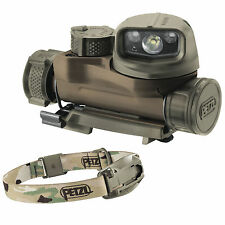 Petzl STRIX IR Infrared Military Head Torch Helmet Light MOLLE Flashlight Camo