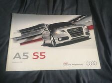 2012 Audi A5 S5 Accessories USA Market Color Brochure Catalog Prospekt