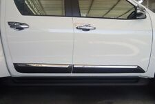 TOYOTA HILUX REVO BLACK WITH CHROME SIDE DOORS BODY MOLDING TRIMS FOR DOUBLE CAB