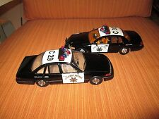 CMW & Code 3 1/24 scale California Highway Patrol 1996 & 1999 Ford Crown Vics