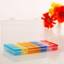 Box Case Organizer Week Storage Holder Case FOR Medicine Drug Pill 7 Day 21 Slot