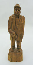 "RAYMOND BOURGAULT BOUTIQUE 8 1/4"" WOOD CARVED MAN - QUEBEC, CANADA - SIGNED"