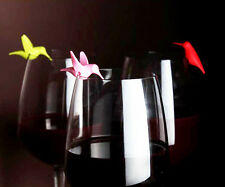 QUALY SIX COLOR HUMMINGBIRD'S WINE GLASS MARK CUTE HOME LIVING FREE SHIP