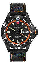 "CX SWISS MILITARY WATCH ""TANK NERO RAWHIDE"" 27431 Swiss Made 20ATM M-Nylon 102g"