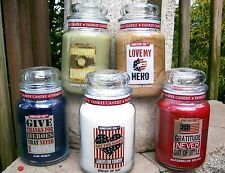 """SET OF 5 Yankee Candle 22 oz. """"HOMETOWN GIRL"""" ~LE~ PATRIOTIC~SUPPORT OUR TROOPS"""