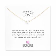 """Dogeared Gold Dipped Pearls Of Love Gift Boxed 16"""" Necklace"""