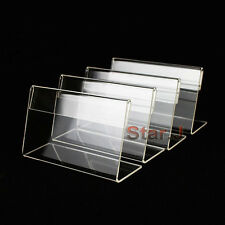 50pcs Sign Display Holder Price Card Tag Label Counter Top Stand Case 7cm x 4cm