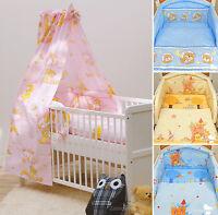 Babybett Kinderbett Juniorbett weiß 140x70 Bettwäsche Bettset komplett 24-tlg.
