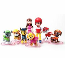 Paw Patrol Cake Toppers Figures 8pc BRAND NEW  FREE EXPRESS DELIVERY FROM UK #0S