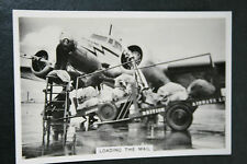 British Airways  Lockheed Electra   1930's Vintage Action Photo Card # VGC