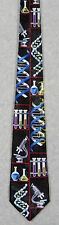 SCIENCE ICONS BIOLOGY CHEMISTRY DNA MICROSCOPE TEST TUBES Steven Harris Necktie