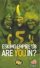 2008 EDMONTON ESKIMOS FOOTBALL CFL POCKET SCHEDULE