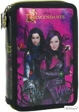 NEW DISNEY DESCENDANTS PENCIL CASE WITH EQUIPMENT FOR KIDS SCHOOL