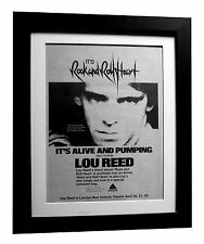 LOU REED+Rock & Roll Heart+POSTER+AD+RARE+ORIGINAL 1977+FRAMED+FAST GLOBAL SHIP