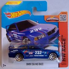 Hotwheels (2015) BMW E36 M3 RACE - BLUE PAINT  - #146/250 - 1/64 Scale