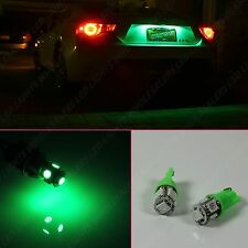 1 Pair Green LED License Licence Plate Tag Bulbs 10-LED 194 168 W5W T10