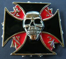 CROSS SKULL BONES EVIL PUNISHER PUNK ROCK BELT BUCKLE BOUCLE DE CEINTURE