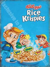 Vintage Food, 87, Rice Krispies Cereal, Cafe Kitchen Shop, Small Metal/Tin Sign