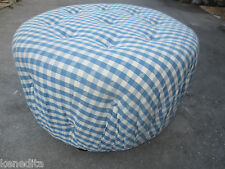 FUN Round Footstool Ottoman Foot rest Stool Cottage Coastal Shabby Chic Tufted