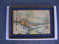 """GILLESPIE E.F """"SIGNED BY ARTIST"""" WATERCOLOR,VINTAGE.NICE BRIGHT DETAIL.."""