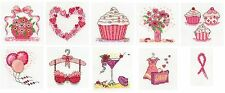 DMC Pink Ribbon Foundation Mini Cross Stitch Kits - full set of 10 designs