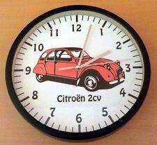Horloge - Pendule Murale Ø 20cm Motif Décoration Citroen 2CV Rouge (Neuf)