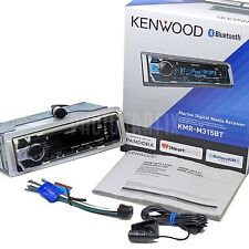 NEW Kenwood KMR-M315BT Marine Boat Stereo MP3/WMA Digital Media Bluetooth Front