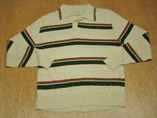 Vintage 1970's Jantzen Disco Leisure Polo Shirt-L-Made in USA-Sweater Soft