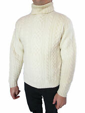 BERTRAND D'ARLEY Hand Knit Wool Cable Fair Nordic Men's Sweater Jumper sz M AO96