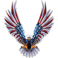 American Eagle Flag Wings Sticker Decal Ships from USA car bike bumper macbook