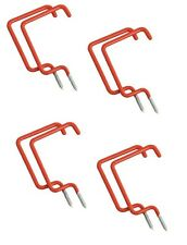 8 PC Utility Ladder Storage Ceiling Hooks - Garage Shed Tool Shop Organization