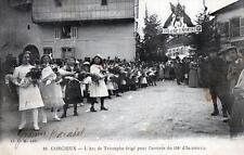 CPA 88 CORCIEUX L'ARC DE TRIOMPHE ERIGE POUR L'ARRIVEE DU 158e D'INFANTERIE (SUP