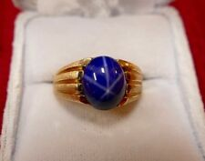 Natural 3.23ct Blue Star Sapphire Ring in 14K w.GIA cert G.G. appr $3,052