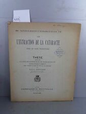 Berger L'extraction de la cataracte thèse Monoyer ophtalmologie optique médecine