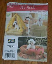 Simplicity 4187 Pet Beds Home Decor Unusual Fancy Designer Cat Dog Pet Furniture