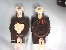 22 USED LOCKING RECEPTACLES 20A/125V 2 POLE 3 WIRE HUBBELL 23000G 14 A-H&H