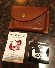Red Clouds Collective Handcrafted Leather COIN POUCH Card Holder - MENS / WOMENS