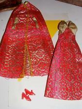 Vintage Barbie BROCADE Gown SHINE FOR TV TIME #9835 DRESS & CAPE Superstar 1977