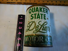 Vintage QUAKER STATE DE LUXE MOTOR OIL QUART CAN 20W 50 HD Unopened Very Good