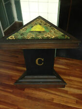 Vintage Triangle Table with Beehive from Odd Fellows Hall in Michigan 1913